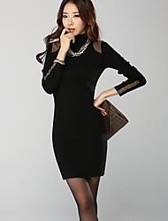 Col roulé à manches longues épaissie sac des femmes Hanyiou ® Hip Pull Long