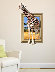 3D Die Giraffer Wandaufkleber Wandaufkleber