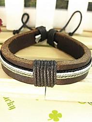 Unisex Fashion Hand Made Leather Bracelet