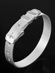 Belle laiton plaqué argent Bracelets Bracelet
