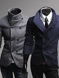 Duplo casaco de tweed mama dos homens Menmax