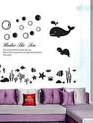 Underwater World Design mural en plastique Stickerss (1pcs)