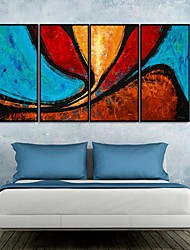 Hermosos colores del arte abstracto Framed Canvas Set de 4