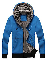 Kapuzenjacken & Sweatshirts ( Baumwollmischung ) Langarm - Reine - Langarm - Herren
