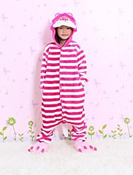 NEW cosplay  Pink cat Flannel Toilet version Children Kigurumi Pajama