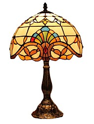 Baroque Style Tiffany  Light with Staind Glass For Bedroom D12025T