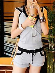 fa&nouveau modèle coréen d'été y femmes vêtements décontractés de sport costume