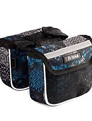 b-Seele 600d Polyester blau und schwarz wasserdichte tragbare Fahrradrahmentasche mit Reflexstreifen