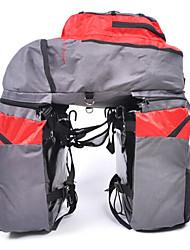 mountainpeak 3-en-1 68l gris et rouge 600d sacoche en nylon pour le cyclisme