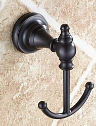 Wall Mount duplo Rodada Final Ouro Oil-esfregou Gancho Bronze Finish Robe
