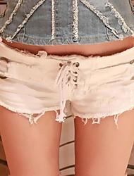 Women's Club Show Thin Denim Shorts