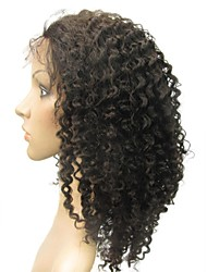 """Full Lace 14"""" Jerry Curly 100% Indian Remy Human Hair Lace Wig-5 Colors to Choose"""