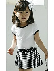 Moda patrón encantador de la mariposa de la muchacha vestido de la raya