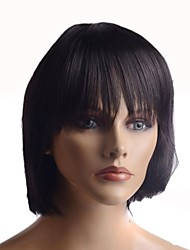 Capless Long High Quality Synthetic Nature Look Dark Straight Hair Wig
