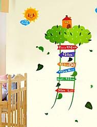 Createforlife® Cartoon Tree Ladder Height Chart Kids Nursery Room Wall Sticker Wall Art Decals