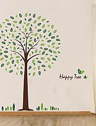 Createforlife® Full of Leaves Green Tree Kids Nursery Room Wall Sticker Wall Art Decals