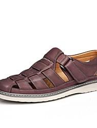 CEEN ® talon plat Confort Sandales Chaussures en cuir pour hommes (plus de couleurs)