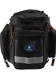 rongruihr panno impermeabile indossabile mountain bike sacchetto impermeabile nero 1608d tronco con striscia riflettente