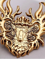 European  4cm Unisex  Flame bucks  Alloy Brooch(Gold,Bronze,Yellow,Black)(1 Pc)