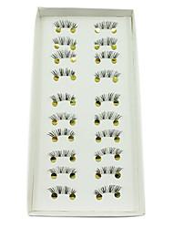 10Pairs Dark Handmade Half-length Eye End High-class Fiber False Eyelashes
