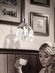 luces colgantes de cristal LED 3W 220v manera simple moderna