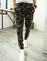Men's Camo Athletic Wei Pants Feet Pants Harem Pants Casual Pants