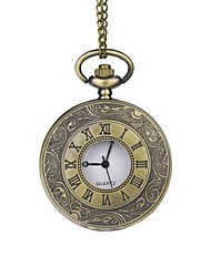 Groom Bronze Roman Numerals Classical Motifs Pocket Watch With Gift Box