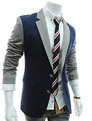 Men's Long Sleeve Short Blazer , Cotton/Polyester