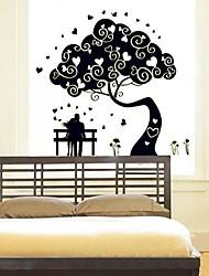 Fundo Casamento Quarto Adesivos decorativos Noctilucent Design Papel de parede de plástico (x1pcs Preto)