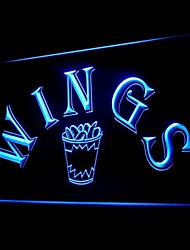 Wings Fast Food Advertising LED Light Sign