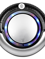 Robotic Vacuum Cleaner - LED Light, Multiple Modes, Cliff Avoidance Sensor (Black)