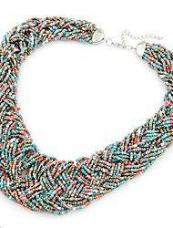 MISS U Bohemian elegante bunte Halskette