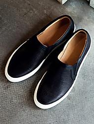 мужская кожаная плоским пятки комфорта бездельники обувь