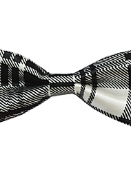 Black And White Classic Streak Polyester Bow Tie