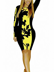 Kontrastfarbe Kleid yoki Frauen