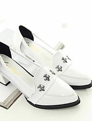 Frauen Chunky Heel Sandaletten mit Spitzschuh Rivet Schuhe