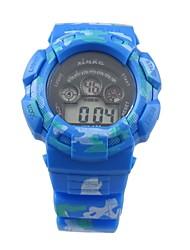 Kid's Lovery blauwe ronde Dial Rubber band quartz horloges
