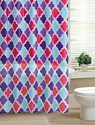 Geometic PEVA cortina de ducha
