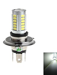 H4 8W 33x5730 SMD 800lm 6000-6500k White Light Lâmpada LED para carro Fog Light (DC 12-24V)