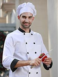 ресторанах униформа белые 3/4 рукав повара пальто с двубортные кнопок