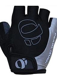 KORAMAN Men's Cycling Gloves fingerless Black&Gray Nylon Bike Bicycle Half Finger Cycling Gloves