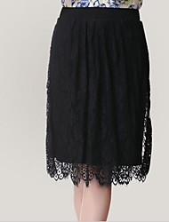 Kvinnors Wild Black Lace Skirt