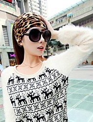 mujeres versión coreana de headdres leopardo