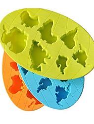 The World's Seven Continents Ice Mould Silicone random color (8x5x0.8 inch)