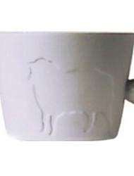 """320ml de cerâmica criativa Sheep Padrão Copa com cauda punho, 4,1 x2.8 """"x3.7"""" """""""