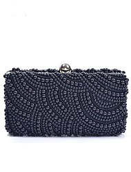 Women's Pearl beaded evening bags hand bag hand cheongsam dress bag(linning color on random)