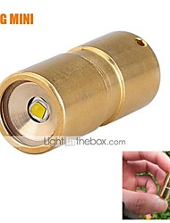 LT-DQG Fairy EDC CREE XP-G2 R5 10180 Mini LED Flashlight Brass(300LM 1*10180 brass)