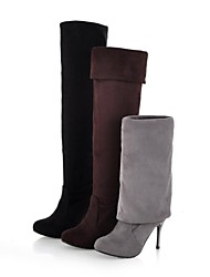 Women's Stiletto Heel Slouch Over The Knee Boots (More Colors)