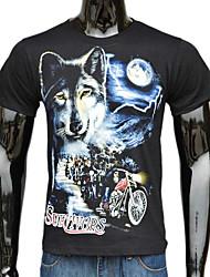 Herrenmode 3D Wolf Bedruckte T-Shirt