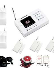 99 Zone PSTN Landline Wireless Home Security Auto Dial Zone Alarm System With 3pcs Door Sensor + 2pcs PIR